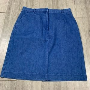Talbots Medium Wash Denim Skirt size 12
